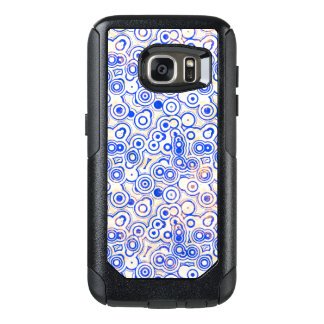 Blue Round Shapes on Pink OtterBox Samsung Galaxy S7 Case