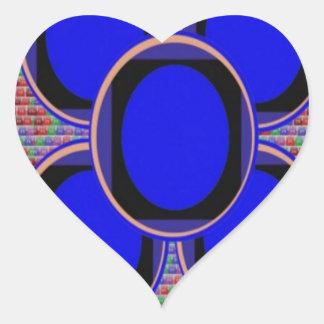 BLUE Round Windows : Focus Discs Disks Heart Sticker