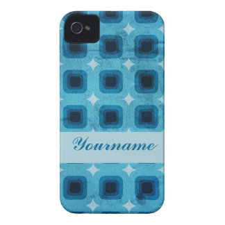 Blue Rounded Squares iPhone 4 Case-Mate Case