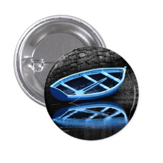 Blue Rowing Boat Button Badge