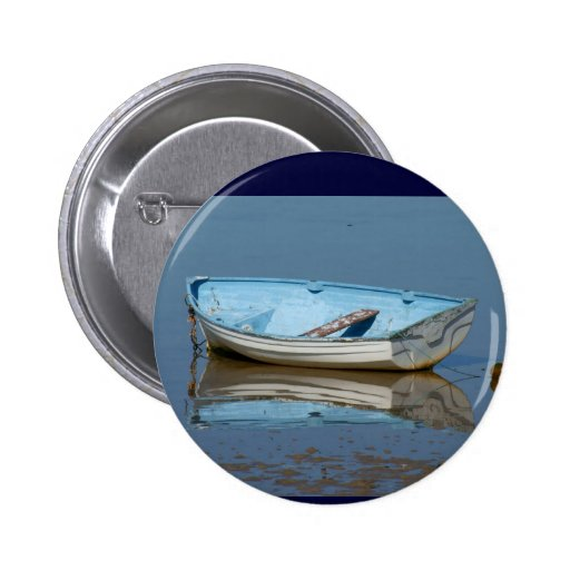 Blue rowing boat pin