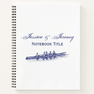 Blue Rowing Rowers Crew Team Water Sports Notebook