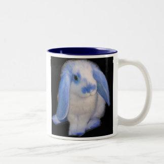 Blue Roxy Rabbit Two-Tone Coffee Mug