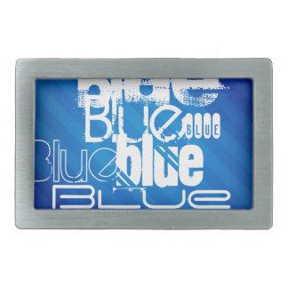 Blue; Royal Blue Stripes Rectangular Belt Buckles