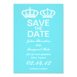 Blue  Royal Couple Save the Date Invitations