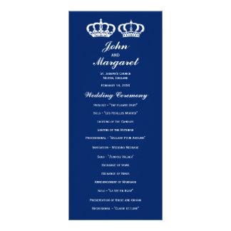 Blue Royal Couple Wedding Program Rack Card Design