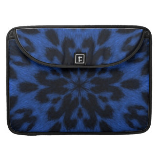 Blue Royale Spotted Leopard Kaleidoscope Sleeves For MacBook Pro