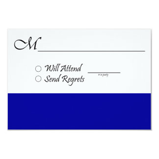 Blue RSVP Card for Wedding or Graduation