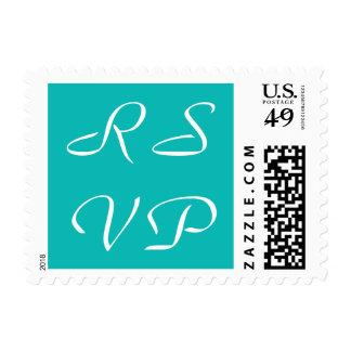 Blue RSVP Postage