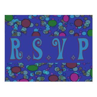 blue rsvp postcard