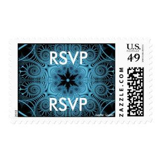Blue - RSVP Stamp