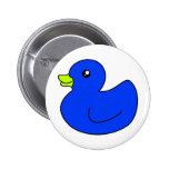 Blue Rubber Duck Button