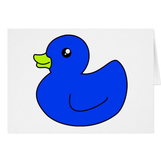 Blue Rubber Duck Cards