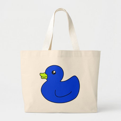 Blue Rubber Duck Jumbo Tote Bag
