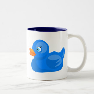 Blue Rubber Duck Coffee Mug