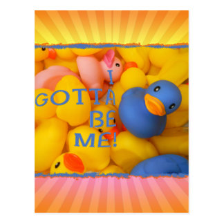 BLUE RUBBER DUCKIE - I GOTTA BE ME! POSTCARDS