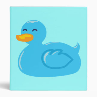Blue Rubber Ducky 3 Ring Binder