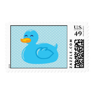 Blue Rubber Ducky Postage Stamps
