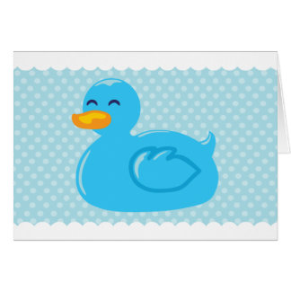Blue Rubber Ducky Thank You Cards
