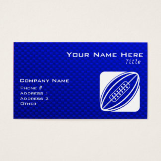 Blue Rugby Business Card