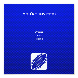 Blue Rugby 5.25x5.25 Square Paper Invitation Card