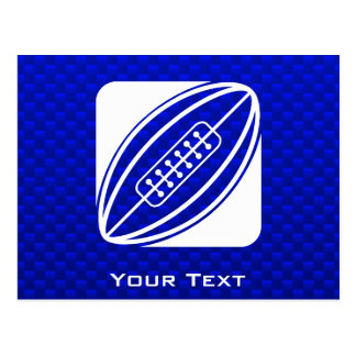 Blue Rugby Postcard