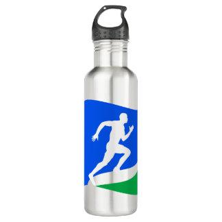 Blue Runner Logo Personalized Stainless Steel Water Bottle