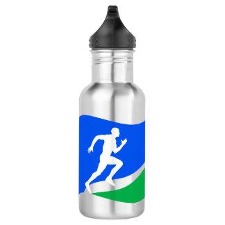 Blue Runner Logo 18oz Water Bottle
