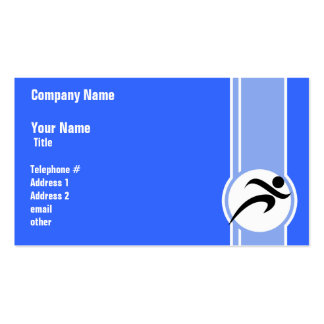 Blue Running Double-Sided Standard Business Cards (Pack Of 100)