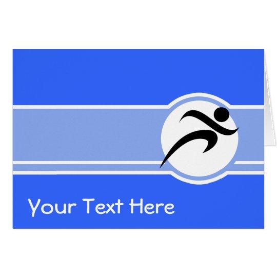 Blue Running Card
