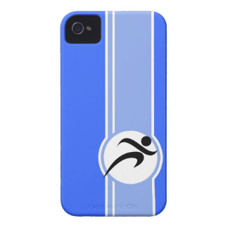 Blue Running iPhone 4 Cover