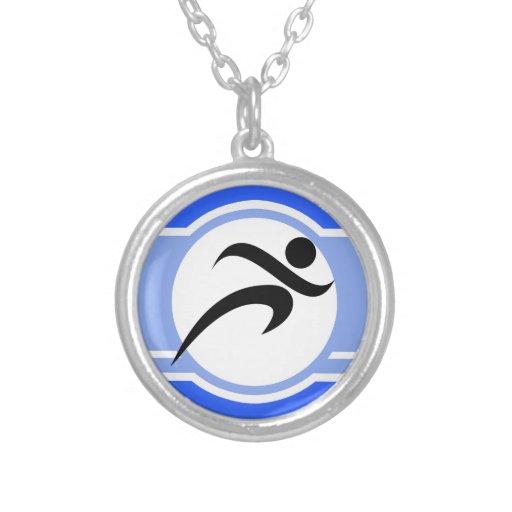 Blue Running Custom Jewelry