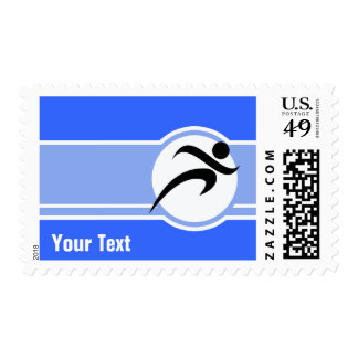 Blue Running Stamps