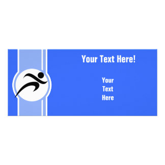 Blue Running Personalized Rack Card