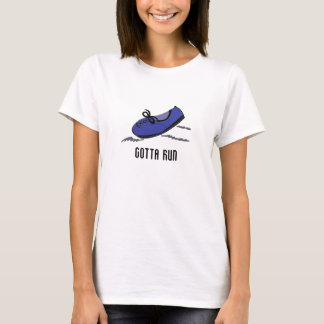 Blue Running Shoe - Gotta Run T-Shirt
