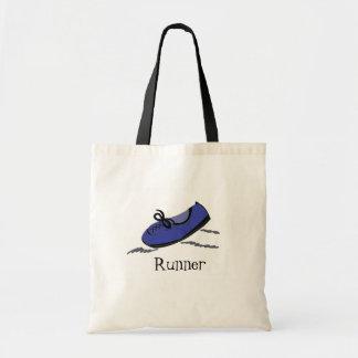 Blue Running Shoe - Runner Tote Bags