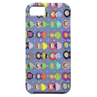 blue russian doll zombies iPhone SE/5/5s case