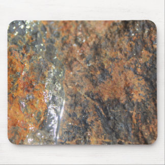 Blue Rust Black Mineral Texture Mouse Pad