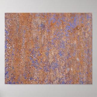Blue Rust Poster Print