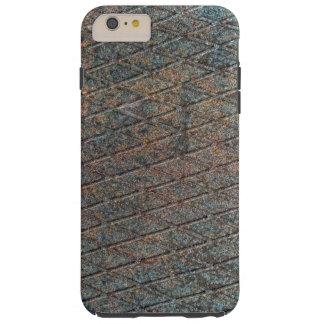Blue Rusted Diamond Shape Metal Pattern Tough iPhone 6 Plus Case