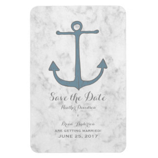 Blue Rustic Anchor Save the Date Magnet