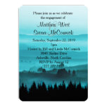 Blue Rustic Mountain Engagement Party Invitation