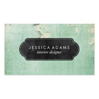Blue Rustic Vintage Professional Business Card