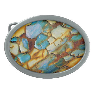 Blue Rusty Chipping Paint Belt Buckle
