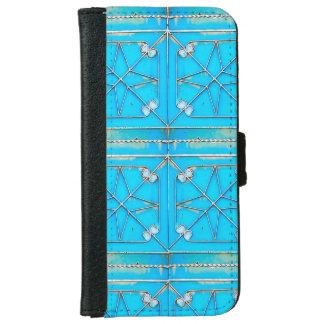 Blue Rusty Vintage Steel Door iPhone 6/6s Wallet Case