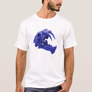 Blue Sabretooth tiger skull shirt