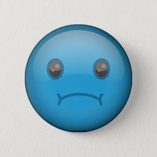Blue Sad Button
