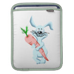 blue sad rabbit holding carrot.png sleeve for iPads