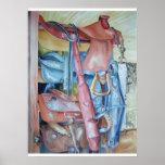 Blue Saddle Print