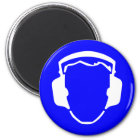 Blue Safety Hearing Protection Magnet